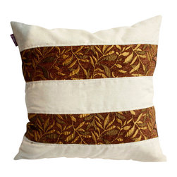 Blancho Bedding - [Gold Autumn] Linen Stylish Patch Work Pillow Floor Cushion 19.7 by 19.7 inches - Aesthetics and Functionality Combined. Hug and wrap your arms around this stylish decorative pillow measuring 19.7 by 19.7 inches, offering a sense of warmth and comfort to home buddies and outdoors people alike. Find a friend in its team of skilled and creative designers as they seek to use materials only of the highest quality. This art pillow by Onitiva features contemporary design, modern elegance and fine construction. The pillow is made to have invisible zippers, linen shells and fill-down alternative. The rich look and feel, extraordinary textures and vivid colors of this comfy pillow transforms an ordinary, dull room into an exciting and luxurious place for rest and recreation. Suitable for your living room, bedroom, office and patio. It will surely add a touch of life, variety and magic to any rooms in your home. The pillow has a hidden side zipper to remove the center fill for easy washing of the cover if needed.