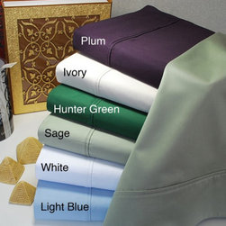 Egyptian Cotton 400 Thread Count Solid Sheet Set, - If you want to make a small change in your home this fall, add plum sheets. They are masculine enough for your significant other and festive enough for fall.