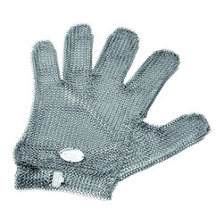 Pott - Oyster Glove, Stainless Steel - No need for an advanced case of shell shock: You have the situation well in hand. This perfectly crafted, stainless steel oyster glove will stand up to years of hard work while protecting your fingers from every potentially brutal bivalve encounter.
