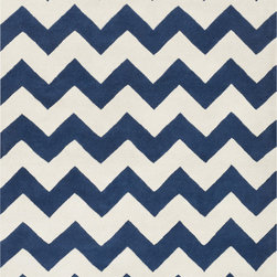 Artistic Weavers - Artistic Weavers Transit Penelope (Navy, Ivory) 9' x 13' Rug - This Hand Tufted rug would make a great addition to any room in the house. The plush feel and durability of this rug will make it a must for your home. Free Shipping - Quick Delivery - Satisfaction Guaranteed
