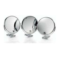 Smile - Smile Magnifying Mirror in Chrome 10x - Magnifying Makeup Mirror