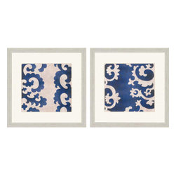 Paragon - Indigo Suzani II PK/2 - Framed Art - Each product is custom made upon order so there might be small variations from the picture displayed. No two pieces are exactly alike.