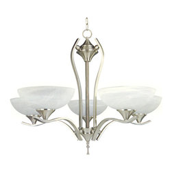 Yosemite Home Decor - 5 Lights Chandelier in Satin Nickel Finish - Feature: