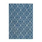 Safavieh - Fabiola Hand Tufted Rug, Navy Blue / Ivory 2' X 3' - Construction Method: Hand Tufted. Country of Origin: India. Care Instructions: Vacuum Regularly To Prevent Dust And Crumbs From Settling Into The Roots Of The Fibers. Avoid Direct And Continuous Exposure To Sunlight. Use Rug Protectors Under The Legs Of Heavy Furniture To Avoid Flattening Piles. Do Not Pull Loose Ends; Clip Them With Scissors To Remove. Turn Carpet Occasionally To Equalize Wear. Remove Spills Immediately. Bring classic style to your bedroom, living room, or home office with a richly-dimensional Safavieh Cambridge Rug. Artfully hand-tufted, these plush wool area rugs are crafted with plush and loop textures to highlight timeless motifs updated for today's homes in fashion colors.