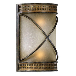 Quorum Lighting - Quorum Lighting San Sebastian Traditional Wall Sconce X-72-8155 - Cultivate your creative side with this traditional wall sconce. The unique Old World styling in the shape of an old fashioned candelabra with antique styling and a cordovan bronze finish is sure to delight. The amber linen glass provides that warm sparkle and romantic glow you've been looking for in your garden or on your porch.