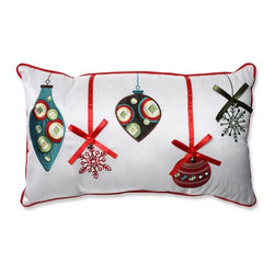 Pillow Perfect - Holiday Ornaments Red/Green Rectangular Throw Pillow - 552941 - Shop for Pillows from Hayneedle.com! With pretty bows and shiny accents theHoliday Ornaments Red/Green Rectangular Throw Pillowgives you even more ornamental aesthetic this season. This colorful pillow is perfect in any room! About Pillow PerfectPillow Perfect was founded by Paul and David Ratner two brothers with a passion for comfortable design stylish functionality and a commitment to pleasing their customers. With over 25 years in the business the founders of Pillow Perfect operate just North of Atlanta Georgia and have been producing products that add style and color to home and patios across the U.S. Keeping up with styles trends consumer needs and quality assurance makes them a major player in the industry. Their manufacturing facility brings all their ideas together and makes them a reality for customers all over the country and through drop-ship online retailers all over the world.