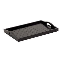 Stylish and Useful Wood Black Tray - Description: