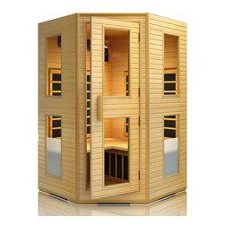 JNH Lifestyles - JNH Lifestyles 2-3 Person Corner Far-Infrared Sauna - Product Description