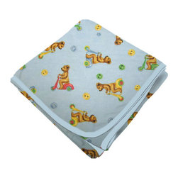 SheetWorld - SheetWorld Flannel Receiving Blanket - Biker Bears - Made in USA - Receiving Blanket is made from a double layer of the finest 100% cotton flannel material and is reversible. It's finished off with a matching cotton binding. Features an adorable print of biker bears on a blue background. Perfect blanket for your perfect baby. (matching sheets available)