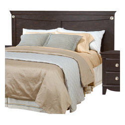 Standard Furniture - Standard Furniture Carlsbad King Panel Headboard in Espresso - Carlsbad Features a Modern style through a blend of clean lines and simple adornments. Wood and wood products with simulated wood grain laminates. Group may contain plastic parts. French dovetail drawer construction with roller side drawer guides. color finish. Dark, Pecan color with a rubbed-through appearance Surfaces clean easily with a soft cloth.