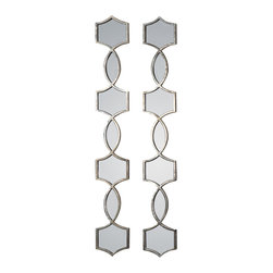 Uttermost - Uttermost Vizela Metal Mirrors Set/2 - Vizela Metal Mirrors Set/2 by Uttermost Hand Forged Metal Finished In An Plated Oxidized Silver. May Be Hung Horizontal Or Vertical.