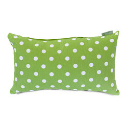 Indoor Lime Small Polka Dot Small Pillow