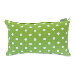Majestic Home - Indoor Lime Small Polka Dot Small Pillow - Talk about a hot spot! This cotton twill pillow in your choice of colors makes a refreshing change from solids and stripes. Toss it into your favorite casual setting for an instant style upgrade.