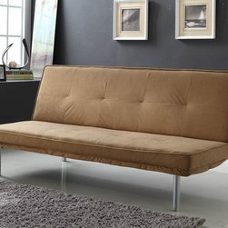 Homelegance - Homelegance Penny Elegant Lounger in Light Brown Microfiber - Working as a functional accent for a bedroom or recreational space  the Penny Collection will provide you with the additional seating and sleep space your home requires. With the quick adjustment  the click mechanism is engaged  turning this casual sofa into a bed. Offered in a light brown microfiber covering and designed with a contemporary environment in mind  the Penny Collection is the perfect choice for your home.