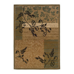 """Oriental Weavers - Contemporary Camden 3'3""""x5'5"""" Rectangle Gold-Green Area Rug - The Camden area rug Collection offers an affordable assortment of Contemporary stylings. Camden features a blend of natural Gold-Green color. Machine Made of Polypropylene the Camden Collection is an intriguing compliment to any decor."""