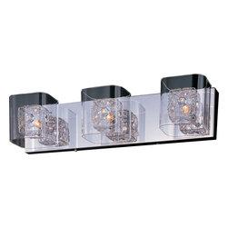 ET2 Lighting - ET2 Lighting E22833-18PC Polished Chrome Gem 3 Light Vanity - 3 Bulbs, Bulb Type: 40 Watt G9 Xenon, Bulbs Included