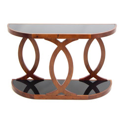 "Lumisource - Pesce Console Table, Walnut Veneer - 16"" L x 48.75"" W x 30"" H"