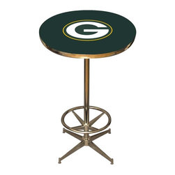 Imperial International - Green Bay Packers NFL Pub Table - These 100% American made barstools are great for your game room, fan cave, kitchen or office. What better way to show off your team spirit then these high quality commercial grade bar stools. Classic styling and quality materials makes these stools a must have for any fan that needs to out fit the ultimate fan cave.
