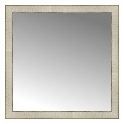 """Posters 2 Prints, LLC - 26"""" x 26"""" Libretto Antique Silver Custom Framed Mirror - 26"""" x 26"""" Custom Framed Mirror made by Posters 2 Prints. Standard glass with unrivaled selection of crafted mirror frames.  Protected with category II safety backing to keep glass fragments together should the mirror be accidentally broken.  Safe arrival guaranteed.  Made in the United States of America"""