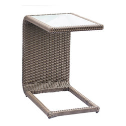 All Backyard Fun - Terrace Collection Slider Table - This table features a sturdy, stable base that allows this table to slide under a sofa, love seat, or club chair; our Terrace Collection Slider Table is the perfect perch for your laptop, a cup of tea, or even a game of cards.