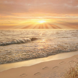 Murals Your Way - Footprints In The Sand Wall Art - Painted by Alan Giana, the Footprints in the Sand wall mural from Murals Your Way will add a distinctive touch to any room