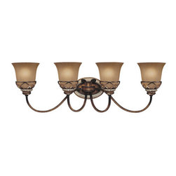 "Minka Lavery - Minka Lavery 5744-206 4 Light 31.5"" Width Bathroom Vanity Light with Avorio Mezz - Four Light 31.5"" Width Bathroom Vanity Light with Avorio Mezzo ShadeFeatures:"