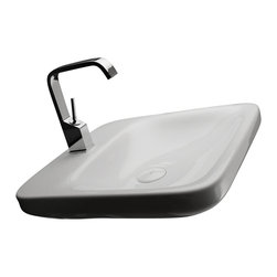 """WS Bath Collections - Start Wall Hung Sink in Ceramic White 19.7"""" - Features:"""