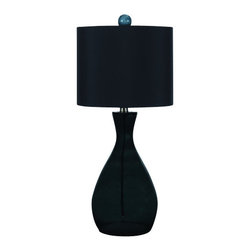 "AF Lighting - AF Lighting 8517 Black Single Light Hand Blown Glass Table Lamp Angelo - AF Lighting 8517 Single Light Table Lamp from the Angelo Home CollectionThis fixture is designed by Angelo Surmelis from ""angelo : Home"". He is a world class designer who is known for his unique hand crafted work, and has been on many television shows for HGTV and TLC. AF Lighting and Angelo have partnered to create an entire collection of fixtures that are designed by Angelo. The collection of stylish and affordable fixtures is committed to quality, value and ease. From the hand crafted details to the no fuss assembly, the Angelo Home collection will add style to any room in the home.Features:"