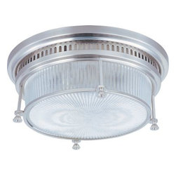 Maxim Lighting - Maxim Lighting 25000CLSN Hi-Bay 2-Light Flush Mount In Satin Nickel - Features
