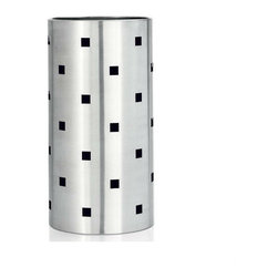 Blomus - SQUARO Umbrella Stand - Don't let a dripping umbrella dampen your day. The SQUARO Umbrella Stand provides sleek storage for multiple umbrellas. Its unique, square cut-out design on a stainless steel body was designed in Germany for Blomus. Elegantly refined to the smallest detail, even your umbrellas can play a part in your home decor.