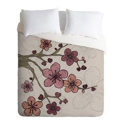 DENY Designs - Valentina Ramos Blossom Duvet Cover - Turn your basic, boring down comforter into the super stylish focal point of your bedroom. Our Luxe Duvet is made from a heavy-weight luxurious woven polyester with a 50% cotton/50% polyester cream bottom. It also includes a hidden zipper with interior corner ties to secure your comforter. it's comfy, fade-resistant, and custom printed for each and every customer.