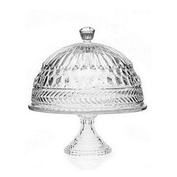 Godinger Symphony Domed Cake Plate - The Godinger Symphony Domed Cake Plate is a beautiful way to showcase your prized desserts. Crafted of clear cut crystal glass, this set includes a pedestal-style cake plate with elegant domed top and finial handle.About GodingerBased in Ridgewood, N.Y., Godinger has been creating distinctive kitchenware, home decor, and gifts for over 40 years. Hand-crafted from crystal, pewter, and silver, Godinger's unique wedding gifts and home decor make any special occasion even more meaningful. From serving dishes and silverware, to barware and centerpieces, their wide tableware selection puts the art back into dining. Godinger is committed to providing excellent quality and style at affordable prices for every customer.