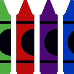 Crayons Wall Decal - Ideal for homes, kids rooms, and schools.