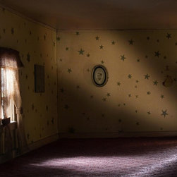 """Stargaze"" Artwork - I made this photograph of an empty room from my own experience with home and family. the past is here through memory but sometimes i imagine what���s going to happen, so the future is here too through imagination. when memory and imagination bring the past and the future together, they collide in a single instant, a eureka moment richly laden with meaning more felt than understood. this photograph is such a moment. the dollhouse in the photograph is circa 1900s and measures three feet high by four feet wide. i used a variety of lenses, perspectives, lighting and digital techniques to create a sense that the rooms are real but at the same time disturbingly not real. i used lights ranging from strobes to pencil flashlights and had small mirrors made so i could photograph some of the room���s interior corners.. this is a uv flatbed print on 1/8��� white dibond, sealed, with an inset frame on the back for a full-bleed mount. at this size, the image rewards you visually from thirty feet away, giving up more information as you make your approach. the overall effect is a lustrous image that seems to float in its space. when you purchase your piece, i am available by email, phone or skype to consult with you about placement. my shipper does a phenomenal job packing so your piece arrives in immaculate condition. separately, i will send you my letter of provenance describing your new piece, when it was made, it���s number in the edition of 26, and the manner in which it was produced. dollhouse was published in the fine art photography journal eyemazing, where art critic heather snider wrote, ������. the question of whether this place is a real house or a dollhouse is ultimately irrelevant. the more time one spends looking at the dollhouse photographs, the less important the actual place becomes. the experience of place, the emotions, memories, and intangible sensations evoked by this pl..."