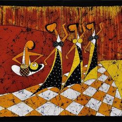 """Rejoicing Steps - Cotton Batik Painting II - Product Size:  43"""" x 32"""""""