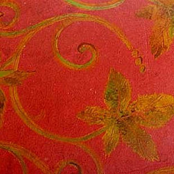 Faux Finishing, murals and hand painting - Interior Images faux patina & leaf pattern