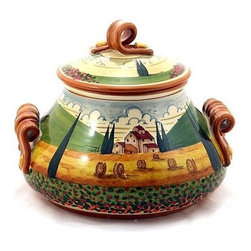 Artistica - Hand Made in Italy - Paesaggio Toscana: Tall Tureen - Paesaggio Toscana: