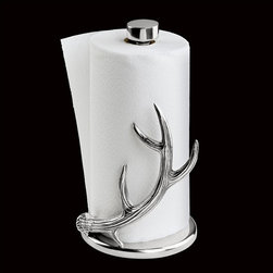 Arthur Court - Arthur Court Antler Paper Towel Holder Multicolor - 550272 - Shop for Paper Towel Holders from Hayneedle.com! Dignify your paper towel holder this holiday season with this unique Arthur Court Antler Paper Towel Holder. This Christmas-themed paper towel holder is wrapped in a bright silver antler. It fits standard paper towel rolls and is hand-washed for easy care.