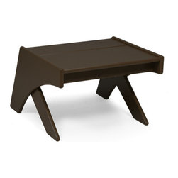 Loll Designs - Lotus Ottoman, Chocolate Brown - An Ottoman is an Ottoman is an Ottoman, right? Well, not unless it is the Lotus Ottoman which works brilliantly to hold your legs and feet in a more stretched out and relaxed position, but also triples as a side table and stool. Perhaps this is what a useful Ottoman should be? It is said that tension is who you think you should be. Relaxation is who you are. Well, the Lotus Ottoman (and Chair) can help you be who you are.