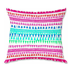 DiaNoche Designs - Pillow Linen - Monika Strigel Hakuna Matata I - Add a little texture and style to your decor with our Woven Linen throw pillows. The material has a smooth boxy weave and each pillow is machine loomed, then printed and sewn in the USA.  100% smooth poly with cushy supportive pillow insert with a hidden zip closure. Dye Sublimation printing adheres the ink to the material for long life and durability. Double Sided Print, machine wash upon arrival for maximum softness. Product may vary slightly from image.