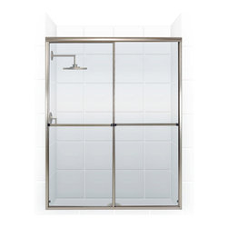 Challenger Series Bypass Shower Door (BRUSHED NICKEL/CLEAR) by Coastal - The Challenger - the modern, sleek styling of this series of bath enclosures is enhanced by a cleaner, smoother more stylish towel bar.