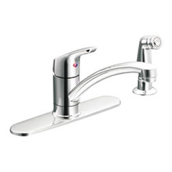 CLEVELAND FAUCET GROUP - CFG Baystone Kitchen Faucet with Side Spray Chrome - Features: