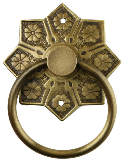 Mediterranean Cabinet And Drawer Handle Pulls Eastlake Star Pattern Ring Pull