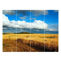 Picture-Tiles, LLC - Sky Clouds Picture Wall Back Splash Tile Mural  18 x 24 - * Sky Clouds Picture Wall Back Splash Tile Mural 1441
