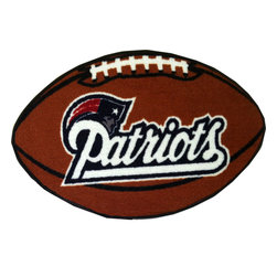 Fanmats - NFL New England Patriots Football Shaped Rug - Features: