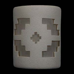 CDS Lighting Studio - White 9-Inch Dark Sky Outdoor Wall Mount with Ventana Cutout Design - The Ventana design is inspired from a popular block design of the arts and crafts movement with an eclectic nod toward the southwest. This is the best choice for an area that needs more all round light. This sconce is finished in a crisp White color which is completely paintable. Side wall wash holes give a beautiful fan of light on each side with great downward lighting as well. Easy to install. Includes an installation kit and instructions. -Due to the handcrafted nature of this outdoor wall mount each design is hand cut in to the wall sconce and is truly unique. -Hand applied multi-color finishes may vary.  -Made in the USA.  CDS Lighting Studio - 114-211-401-90