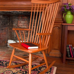 Living Room Furniture | Vermont Woods Studios - Classic and comfortable, our Windsor Rocking Chair is the perfect luxury next to any fireplace and a great gift for Grandma, Grandpa, the mother-to-be, or just a beautiful heirloom for you and your children to enjoy for generations.