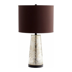 Golden Crackle Glass Floral Table Lamp - *Surrey Table Lamp
