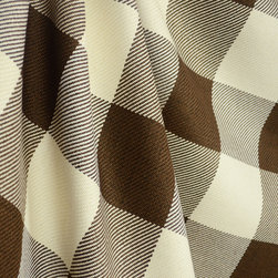 Roth - D2604 Metro Check Chocolate Brown Cream Cotton Check Drapery Fabric By The Yard - In Metro Check Chocolate 3x3 squares of brown, cream, or brown and cream with a woven texture create the checkerboard pattern for this fabric.  This 100% Cotton fabric is great for window treatments, bedding, pillows and lightweight upholstery.
