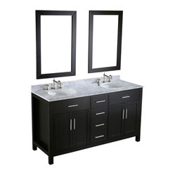 SB-252-4 Double Vanity with Mirrors